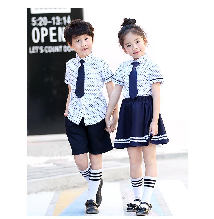 艾咪天使时尚斑点套装幼儿园园服高端定制