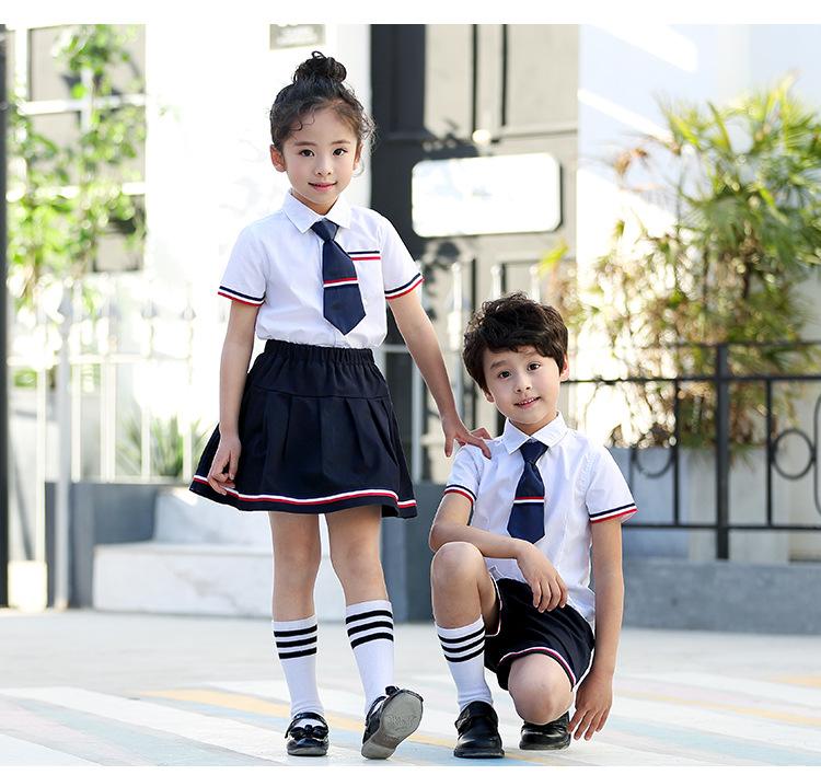 贵族中小学幼儿园夏装校服定制 艾咪天使