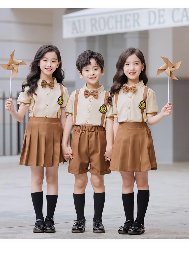 幼儿园全棉英伦风毕业礼服表演服套装
