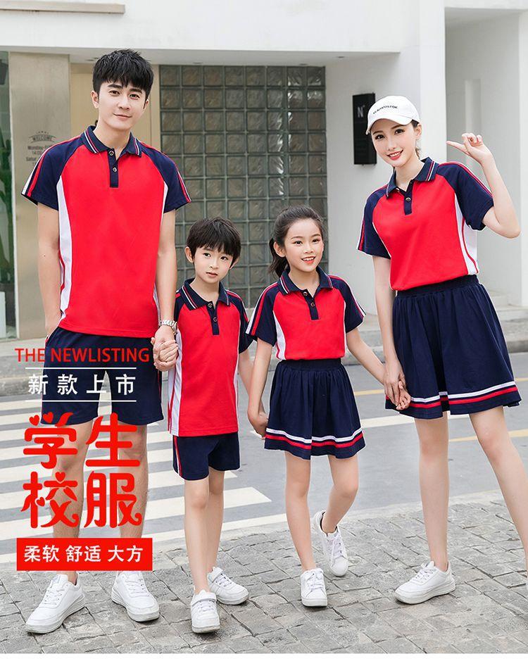 中小学新款棉质跑步运动团体服套装