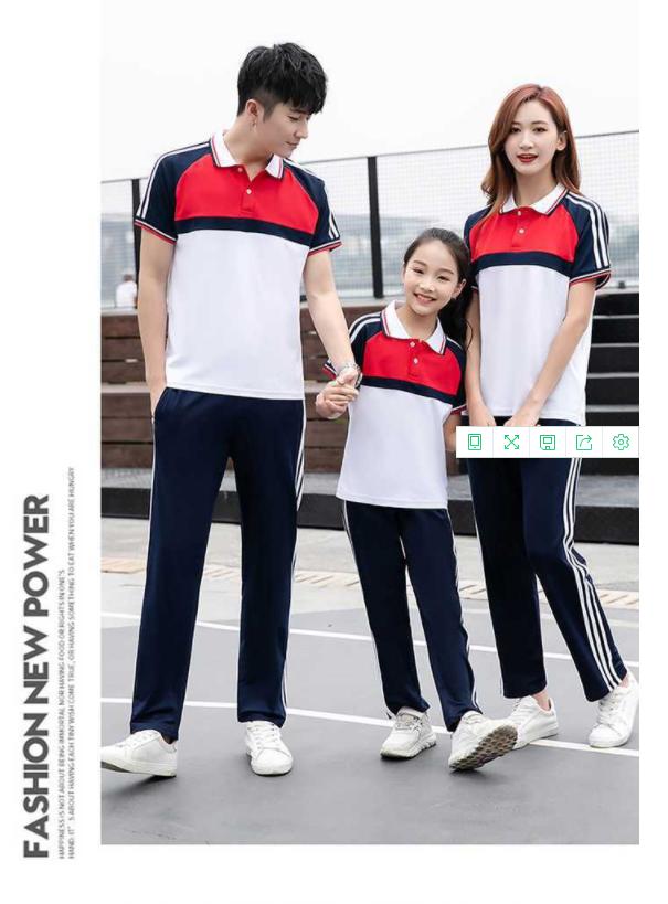 东莞市初高中 小学班服团体服红色运动套装