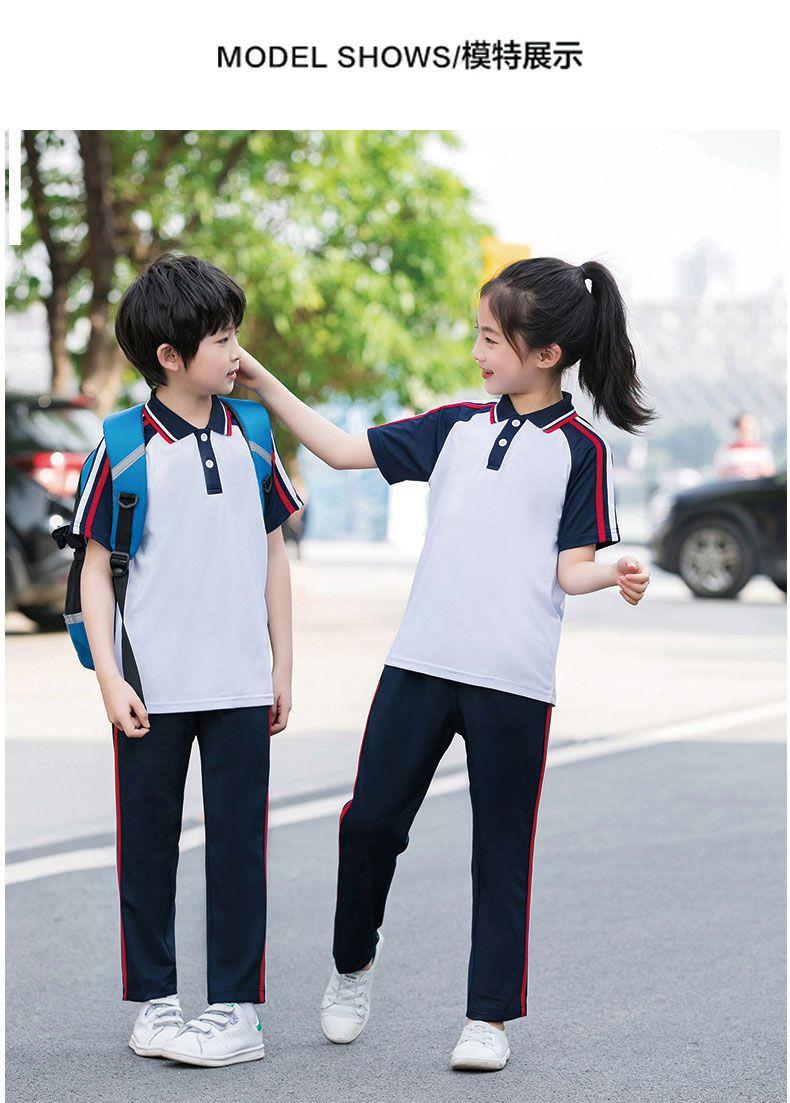 夏季学院风校服套装短袖运动服装定制