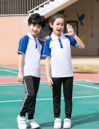 广州初中高中生学院风运动服套装 厂家定制