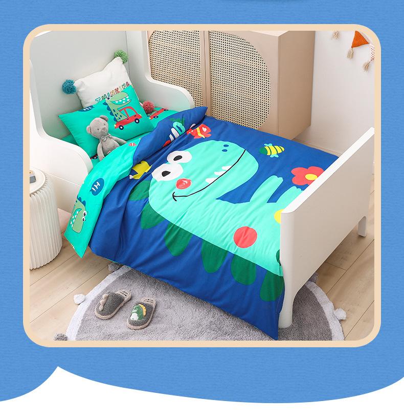幼儿园午睡专用被三件套 春秋丝棉被子可机洗六件套