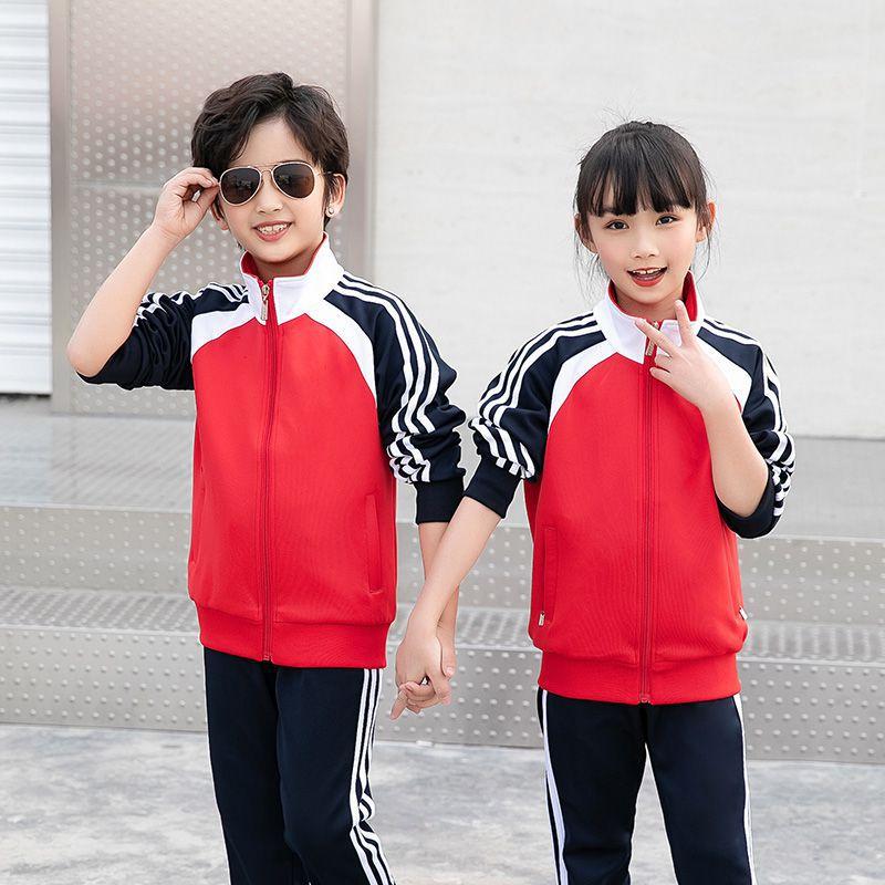 新款运动套装中小学生校服南韩丝班服园服定制