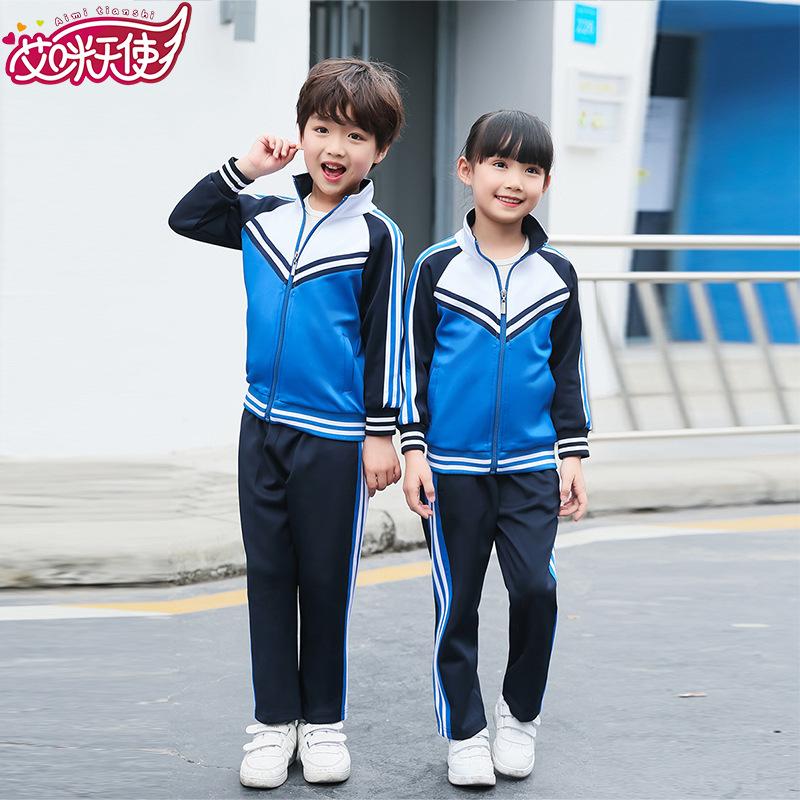 南韩丝幼儿园园服运动套装中小学校服班服定制
