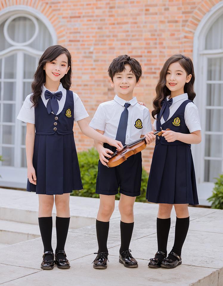夏季新款英伦风幼儿园园服中小学礼服表演服