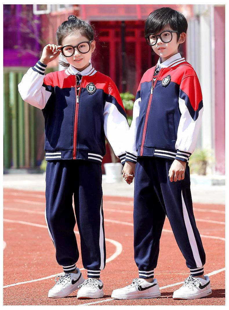 中小学校服加厚棉袄毛衣衬衫五件套学院风棒球服套装