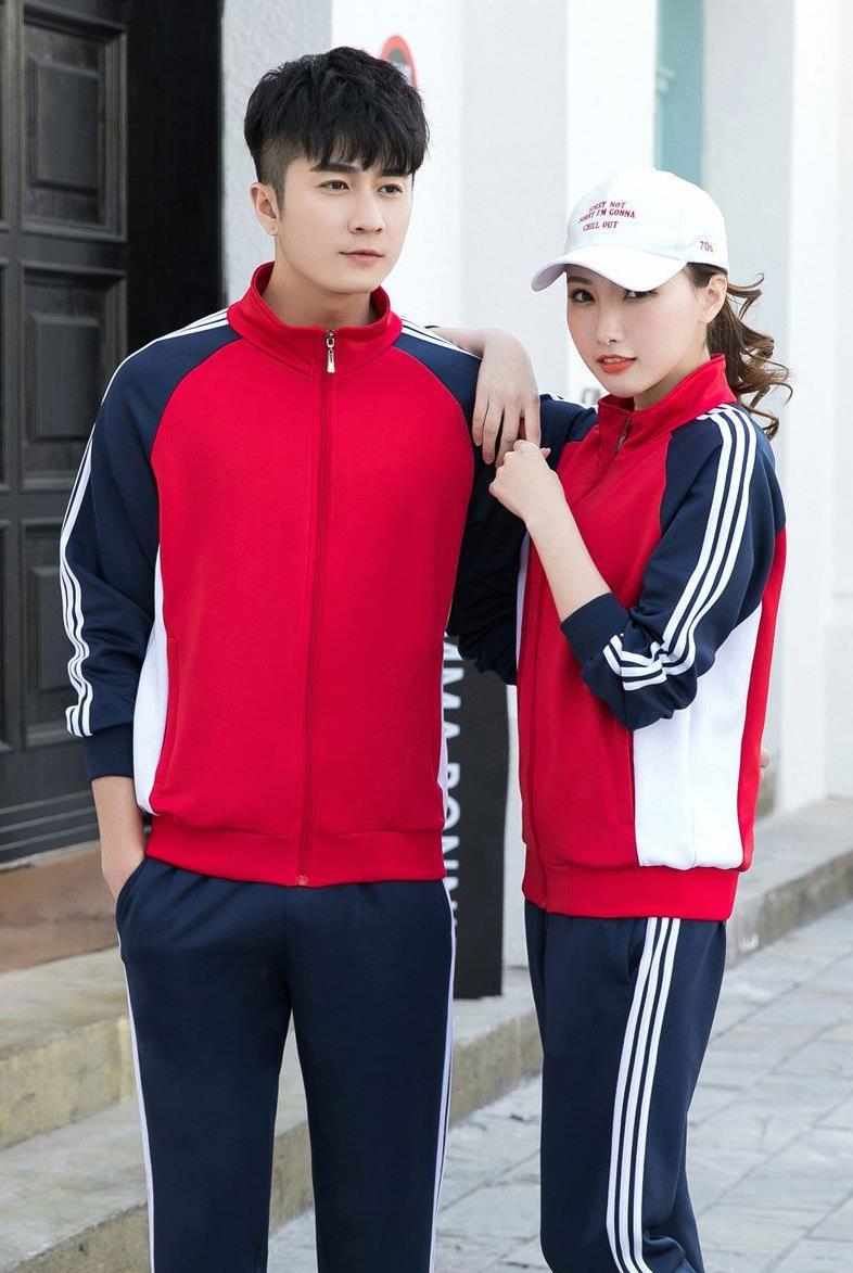 秋季初高中大学生运动校服 团体服班服套装
