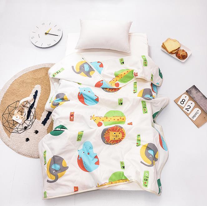 卡通活性印染纯棉夏凉被 婴幼儿入睡夏凉被