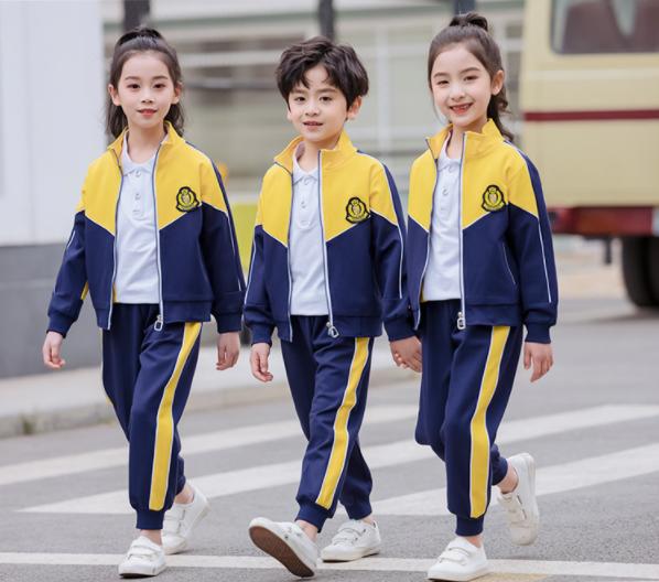 2021黄色新款幼儿园园服撞色幼儿园教师学生同款校服