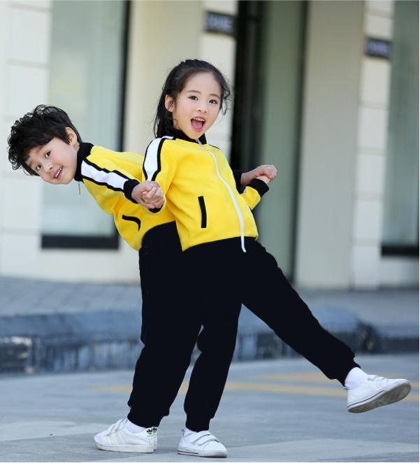 新款黄色师生同款幼儿园园服中小学生校服厂家直销
