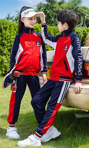 中学生校服套装英伦风棒球服儿童运动服三件套